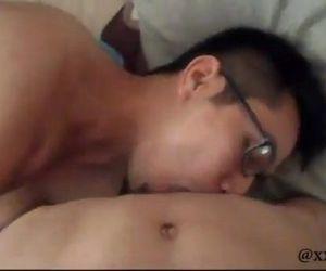 Sweet asian couple fucking