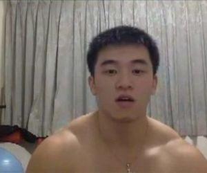 Asian hunk big cumshot
