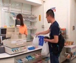 Sweet asian shop attendant gets cunt teased upskirt - 5 min