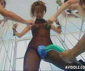 Busty Japanese hottie is tied up and teased with toys - 8..