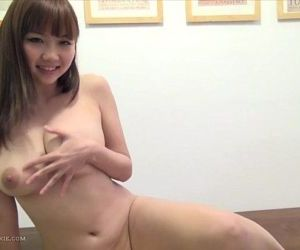 Busty, hot Japanese girl in playsuit & toys - 6 min