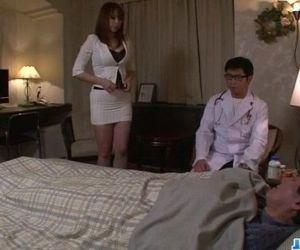 Araki Hitomi busty milf craves for a hard fuck - 12 min