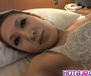 Yuki Kagami with dark nipples rides woody - 10 min