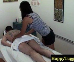 Real jap masseuse gives ball massage - 8 min HD