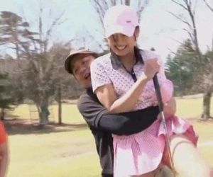 Subtitled uncensored HD Japanese golf outdoors exposure -..