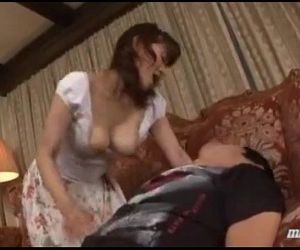 Milf Giving Blowjob For Young Guy Cum To Mouth Spitting..