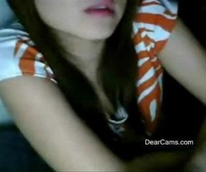 Fair cute Asian webcam stripping - 27 min