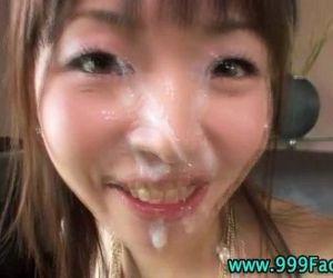 Asian pov hottie gets facial cumshot - 5 min