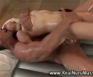 Hot asian fetish babe gets a cumshot - 5 min