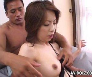 Horny Tomoe Hinatsu vibrator action - 6 min