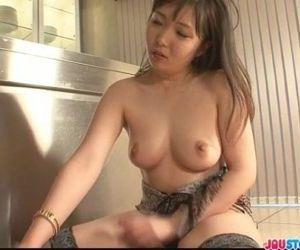 Cute Haruka Oosawa in lingerie sucking dick - 8 min