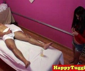 Real jap masseuse rubs customers dick - 8 min HD
