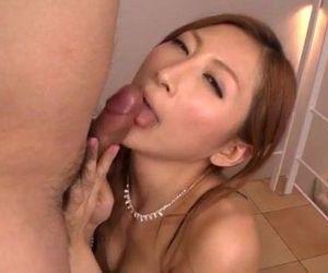 Reira Aisaki dirty POV blowjob combined with sex - 12 min