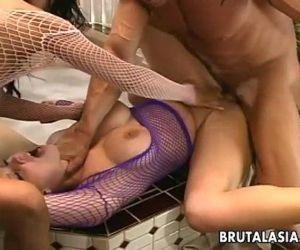 Super hot sluts are getting fucked hard in a threesome - 8..