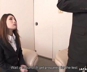 She passes the test with flying colors - 1 min 3 sec