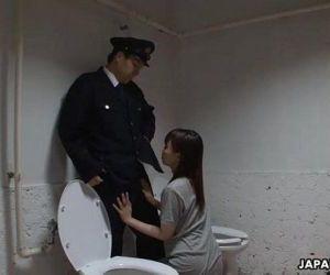 Asian prisoner sucking off the guards penis - 1 min 4 sec