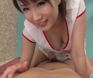 Appealing nurse Mikuni Maisaki caves for a tasty dick - 12..