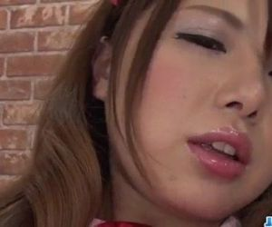 Reika Ichinose tries toys up her cramped pussy and mouth -..
