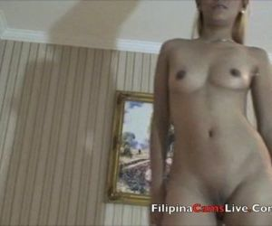 Blonde Asian Cam Model from Asiancamslive.com masterbates..