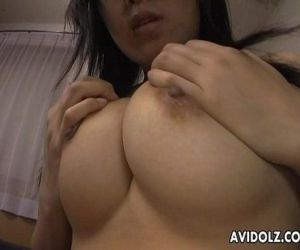 Sly and shy Asian babe getting her wet pussy finger fucked..
