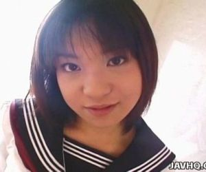 Pretty Japanese schoolgirl cumfaced uncensored - 7 min