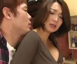 Asian mom forced suck and titfuck in kitchen - 14 min