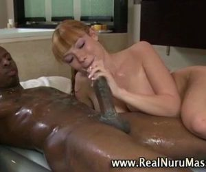 Asian masseuse blowjob facial - 5 min