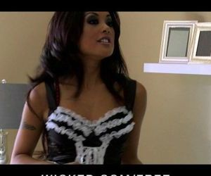 Sexy Asian maid Kaylani Lei cleans up her clients house &..