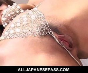 MILF in rhinestones fingers and toys her trimmed pussy - 7..