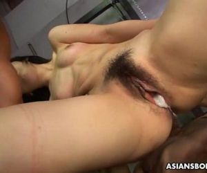 Humiliated Asian babe getting fucked by the two hunks - 58..