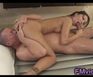 Sweet asian Asa Akira gives amazing massage - 5 min