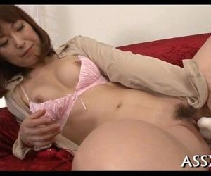 Explicit oriental anal toying - 5 min