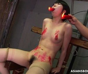 Asian bitch loves to be bdsm treated to a wax show - 8 min..