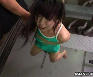 Asian freak tied up to be sexually tortured by some pervs..