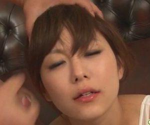 Guys line up for an asian girls blowjob from Miku - 8 min