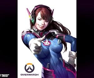 Overwatch D.Va Hentai Slideshow