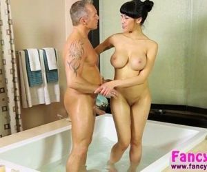 Asian and busty Jayden Lee gets..