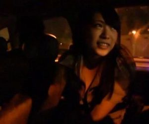 Japanese ghost hunters covert blowjob in car Subtitled - 3..