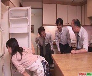 Chihiro Kitagawa Handles Many Dicks Without Fucking Them -..