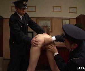 Asian naked prisoner goes through a Clockwork Orange..