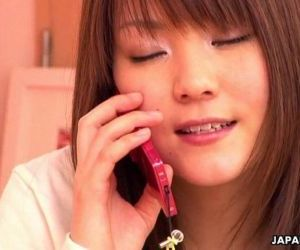 Japanese girl having phone sex - 10 min