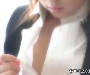 Natsuko takes her clothes off and toys her clitoris - 7 min