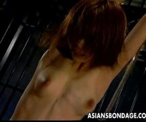 Asian girl gets orgasm while bound - 14 min