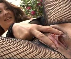 Ruhime Maiori fishnet porn show in hardcore - 12 min