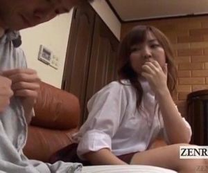 Subtitled CFNM Japanese schoolgirl with older boyfriend -..