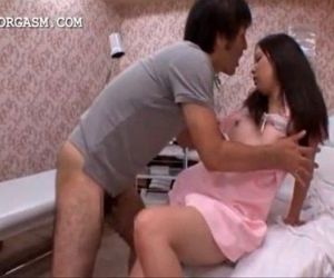 Lustful japanese taking horny dick from her back - 5 min