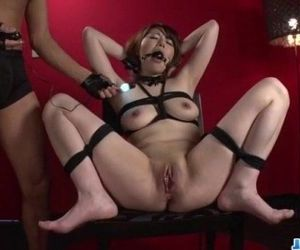 Reika Ichinose enjoys having sex in rough bondage show -..