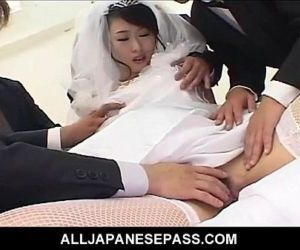 Kinky Japanese bride is the gift of both her husband and..