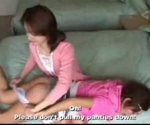 098 Spanking Schoolgirl in Moms Bedroom - 5 min