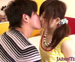 Asian pornstar Miku Airi gets tits jizzed on - 8 min